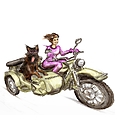 Sidecar Ural Sahara - Alice and Keia