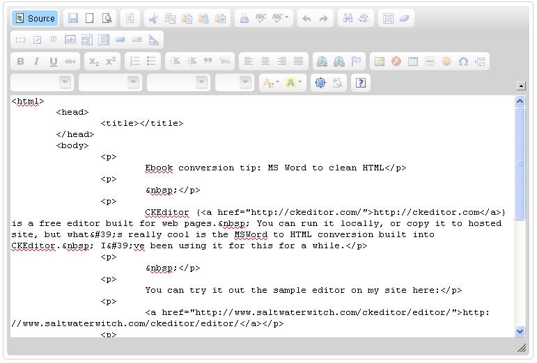 Chris Howard's Writing & Art: Ebook conversion tip: MS Word