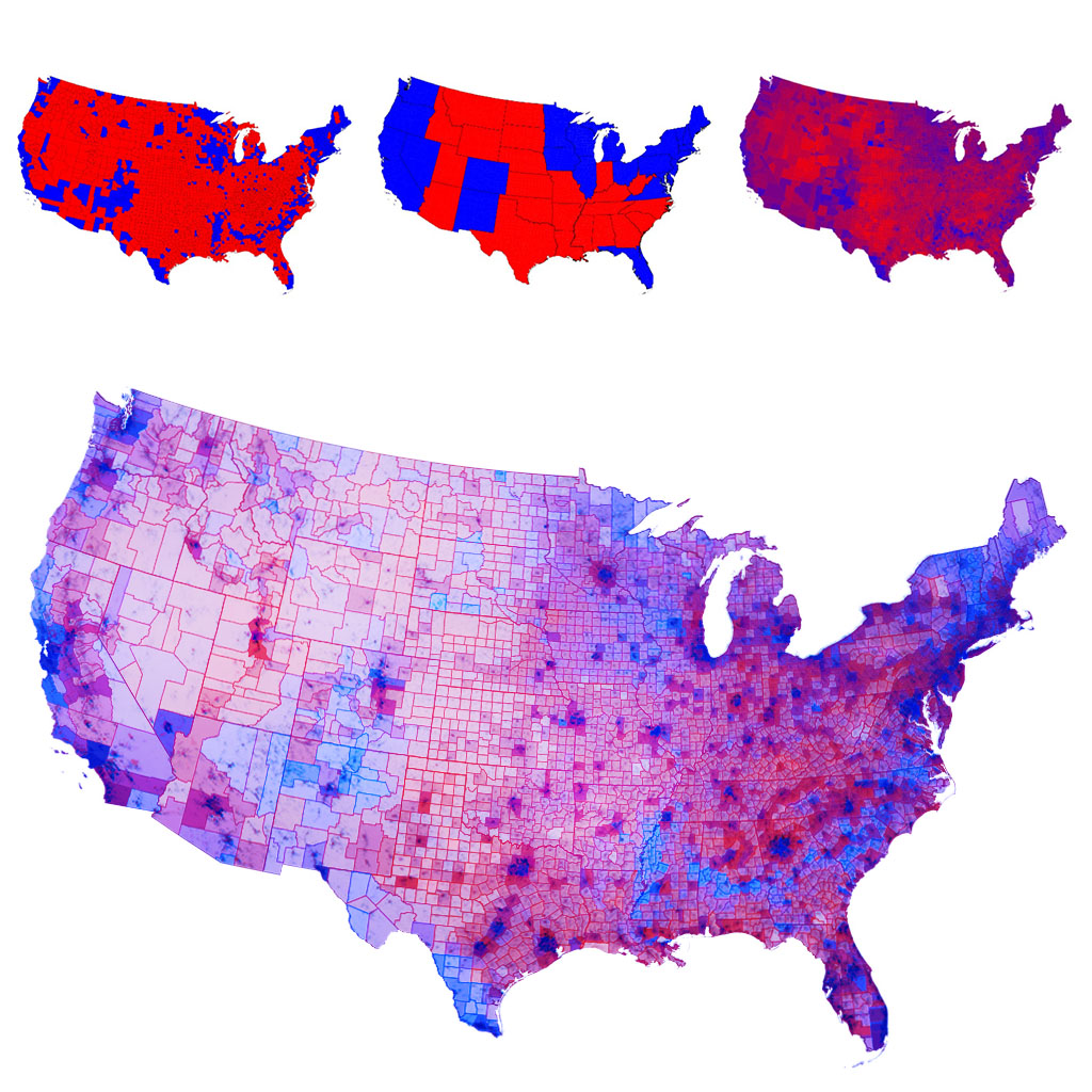 Map Of America Voting.Chris Howard S Writing Art America Really Looks Like This