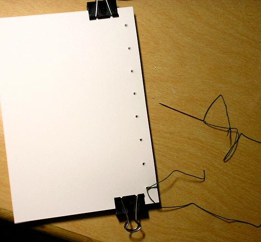 Chris Howard's Writing & Art: Simple Book Binding Step 2